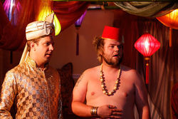 Jason Sudeikis and Tyler Labine in A Good Old Fashioned Orgy.