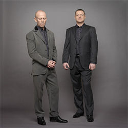 Erasure's Vince Clarke (left) and Andy Bell, looking all grown up