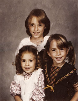 Jeannette and her older sisters, Krissy and Vickie, in grade school.