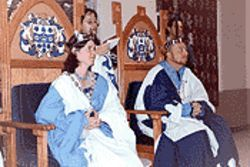 Not the knights who say ... NI! but an SCA queen and king
