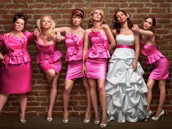 Kristen Wiig (third from right) in Bridesmaids