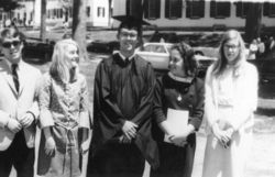 "When he graduated from Virginia's Fairfax High School in 1962, Cason (center) was voted ""Most Likely to Be Ambassador to Uganda."""