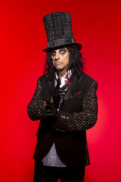 Alice Cooper is back. And he brought his guillotine.