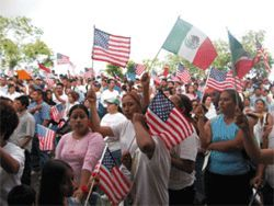 Rally for immigration or irritation?