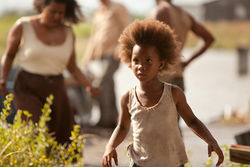 Quvenzhané Wallis as Hushpuppy in Beasts of the Southern Wild.