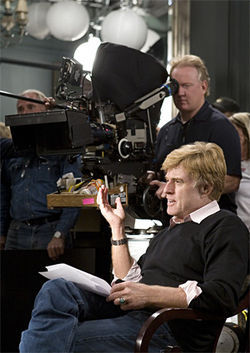 "Redford: ""Can someone please explain why this camera isn't pointed at me?"""