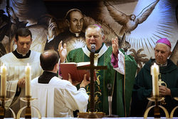 Wenski delivers a special Mass for visiting Cuban priests at Miami&#039;s Shrine of Our Lady of Charity this past November 8.