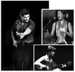 Clockwise from left: Rafael Campallo, Sonia Miranda, and Pedro Sanchez represent Spain's young flamenco generation