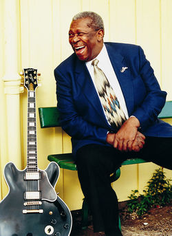 B.B. King and Lucille, his fine, fat-bodied Gibson guitar.