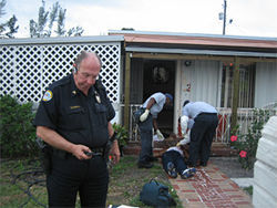 Tony Lacks of the Opa-locka police department was the first to arrive at the scene of Johnson's shooting