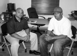 305hiphop.com&#039;s Carlos Garcia (left) and Sound Bwoy Entertainment&#039;s Abebe Lewis know what&#039;s hot for 2005