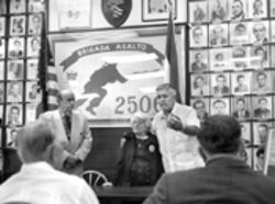 The Bay of Pigs veteran appeared recently at Brigade 2506 headquarters with Eva Barbas, mother of shootdown victim Pablo Morales