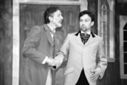 Geoffrey Wade and Terrell Hardcastle in a good old nineteenth-century Russian shake