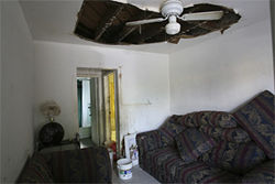 Anna Marie Wilson's ceiling fell on her last month.