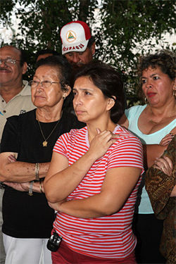 Lucy Delgado (center) and other  residents of Blue Lake Mobile  Home Ranch face a bleak future