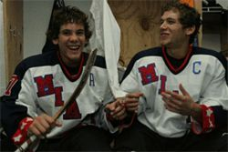 Rocket Kokas, whose jersey is marked with an A for alternate captain, and Victor Cobian, the team's captain, are among Timpone's most ambitious players