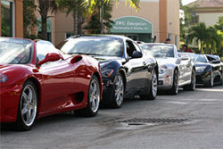 For the Gotham Dream Car Tour, customers pay $895 to wheel this $1.3 million fleet through South Florida.