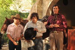 Will Ferrell (right) plays the dull-witted Armando Alvarez in Casa de Mi Padre.