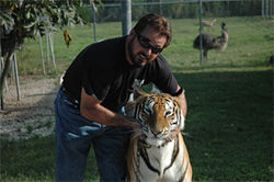 Frank Pajon with his tiger Umba