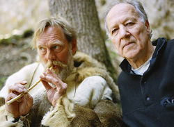 Werner Herzog (right) in Cave of Forgotten Dreams