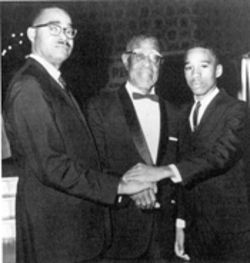Garth Reeves, Sr. (left), Henry E. S. Reeves, and 