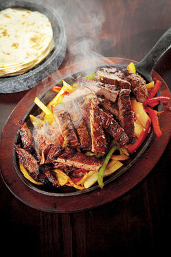 Cinco&#039;s steak fajitas. View more photos.