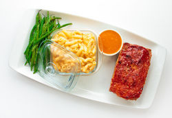 City Hall's Meat loaf with mac 'n' cheese. See a photo slide show of City Hall.