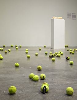 Claire Fontaine's Untitled (Tennis Ball Sculpture)
