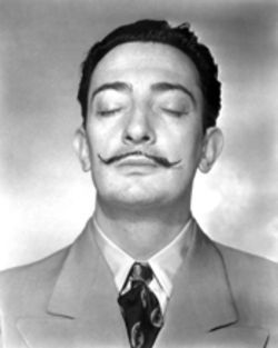 Salvador Dalí snapped in 1943 by Horst