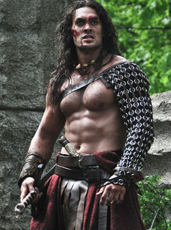 Jason Momoa in Conan the Barbarian 3D.
