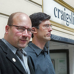 Craigslist creator Craig Newmark and CEO Jim Buckmaster are weathering a storm of criticism