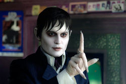 Johnny Depp and his Nosferatu fingers in Tim Burton's Dark Shadows.