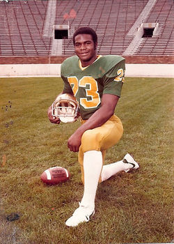 Dave Duerson, Muncie Indiana's golden child, was an All-American safety at the University of Notre Dame. View our Dave Duerson slide show.