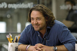 Russell Crowe in a role originally slated for Brad Pitt.
