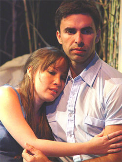 Samara Siskind and Frank Rodriguez as Luz and Luis in 