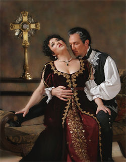 Elizabeth Blancke-Biggs and David Pittsinger in Tosca: Rapture in ruffles.
