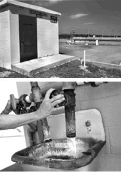 The county first discovered the contamination through a monitoring  well in 1994