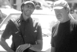 The Bruckheimer Redemption: The producer, at left with  Ridley Scott, proves you don't need love when you have money.