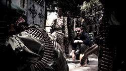 Jeremy Scahill pictured in Somalia in a still from Dirty Wars.