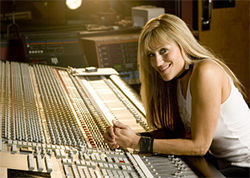 Lilian Garcia, out of the ring and behind the boards