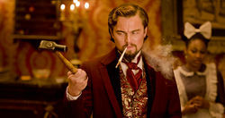 Leonardo DiCaprio as Calvin Candie in Django Unchained.