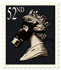Jimmy Cauty and Martin Sexton&#039;s Toffee Armistice  52nd Queen Stamp 