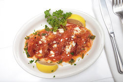 Egg &amp; Dart&#039;s shrimp saganaki. View a photo slide show of Egg &amp; Dart.