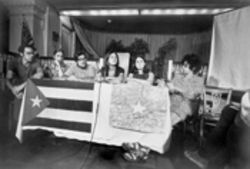 The capture of Kathy Boudin (pictured here, second from right, after returning from Cuba in 1969) alerted authorities they were on to more than a simple robbery