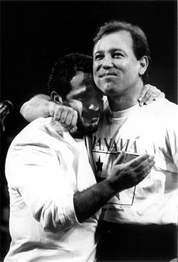 Fania loves Willie Colón (left) and Rubén Blades