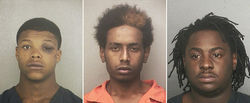 Clockwise from left: Lanel Singleton, 18, Dwight Henry, 17, and Jayvon Woolfork, 19, have all been charged with two counts of armed sexual battery and await trial.