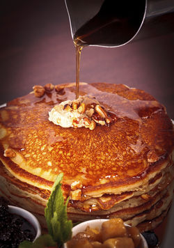 City Hall's buttermilk pancakes