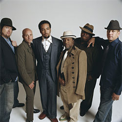 Ben Harper (second from left) and his band: Only criminally stylish