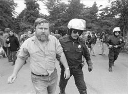 Keith McHenry is arrested for the first time, in San Francisco in August 1988.