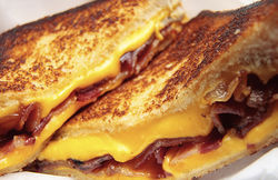 Grilled cheese sandwich with bacon from Ms. Cheezious.